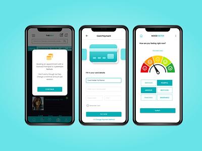 The Ray- A Mental Health Communication App uiux mental health app