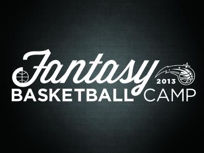 Fantasy Camp Logo fl magic sports basketball nba florida print design orlando magic camp camps identity logo