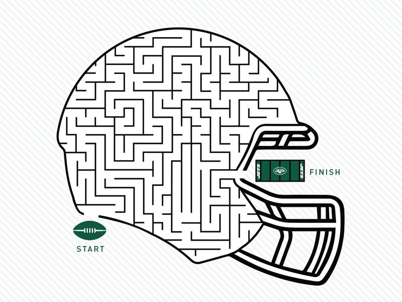 Jets Helmet Maze
