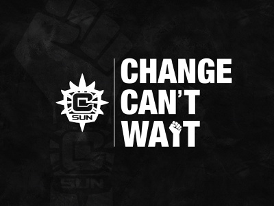 CHANGE CAN'T WAIT connecticut graphic design creative typography basketball wnba logo