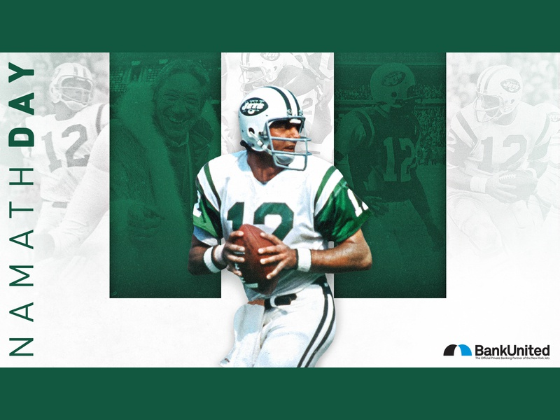 NAMATH DAY social media creative graphic design design graphic new york jets new york city new york jets