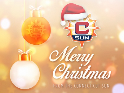 Merry Xmas CT Sun wnba typography connecticut sun connecticut social media graphic design creative design