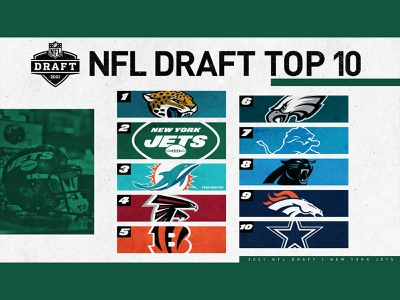NFL Draft Top 10 new york city social media draft nyc jets new york jets new york graphic design creative nfl draft nfl design