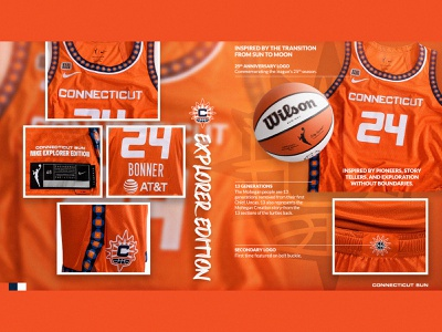CT SUN NIKE UNIFORMS - EXPLORER connecticut sun connecticut social typography social media uniform wnba graphic design creative design