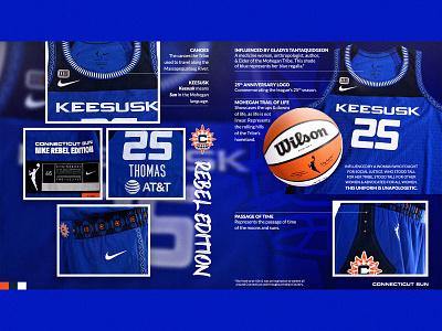 CT SUN NIKE UNIFORMS - REBEL connecticut sun connecticut social media social wnba basketball typogaphy graphic design creative design
