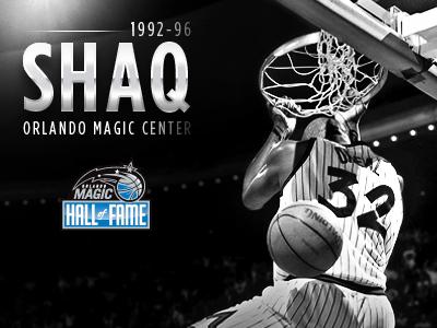 Shaq HOF poster typography hall of fame florida fl shaq design print hof orlando magic orlando