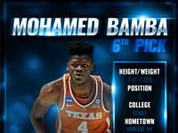 Mo Bamba 6th Pick
