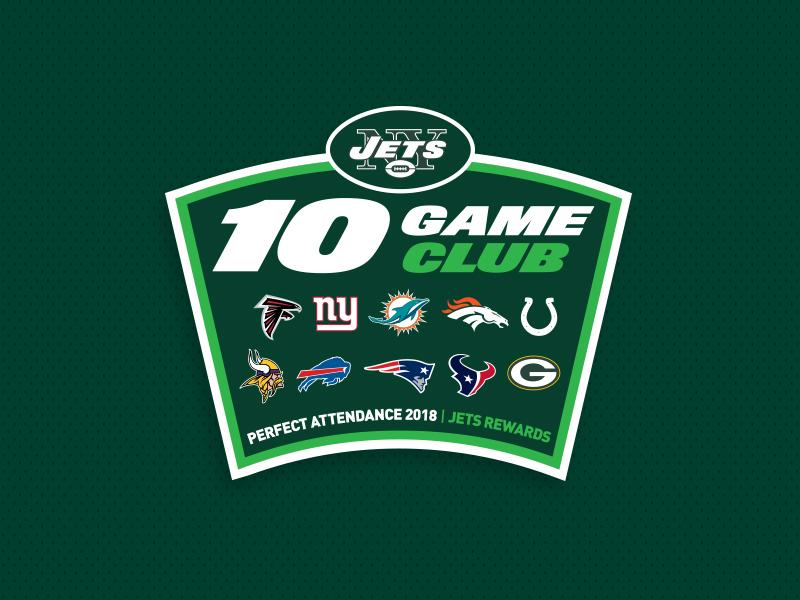 10 Game Club V2 nyc graphic design green jets typography football logo nfl nyj new york new york jets