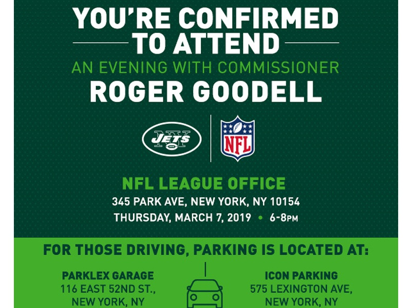 NFL INVITE typography new york graphic design digital email football new york jets nyj nfl