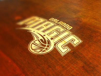 Etched Logo suitcase branding logo wood magic orlando orlando magic etched invitation brown