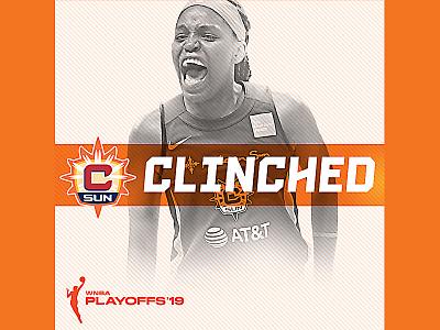 PLAYOFFS typography design graphic design social media social wnba basketball sun