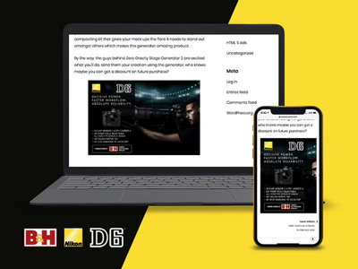 B&H Nikon D6 Responsive Ad bhphoto 3d affiliate portal advertising aftereffects tumult hype animation