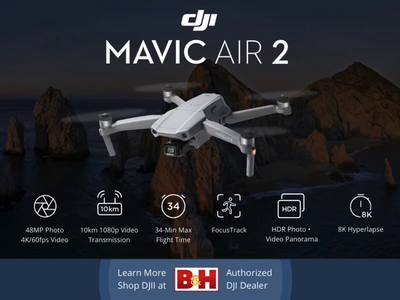 DJI Mavic Air 2 Responsive Web Ad tumult hype aftereffects advertising animation