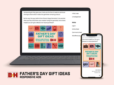 Father's Day Gift Ideas affiliate portal illustration tumult hype animation