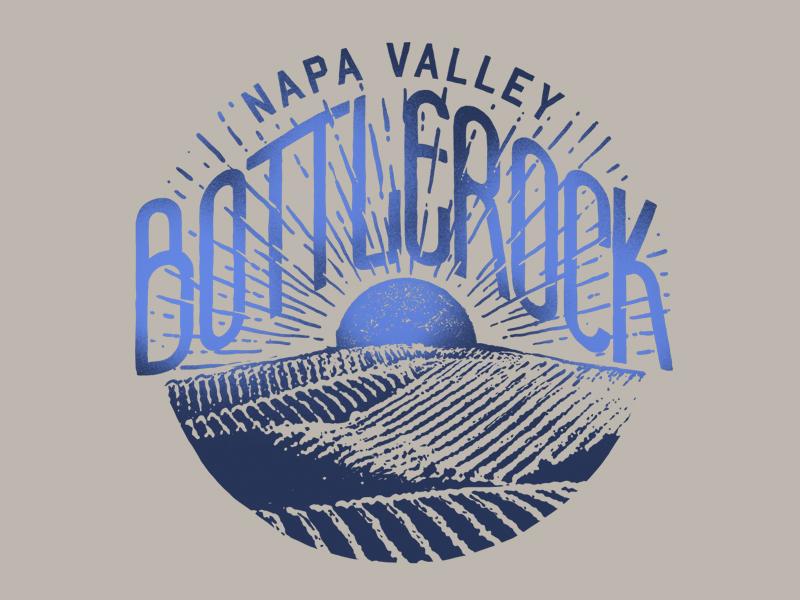 BottleRock - Burst design illustration apparel doublestruck designs graphic design merch nape valley festival music bottlerock