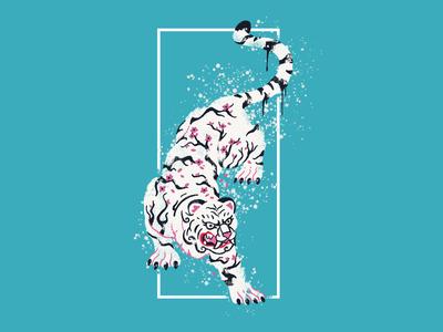 Cherry Blossom Tiger