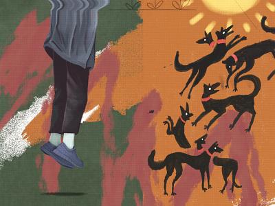Churchill's Black dog brush grunge canvas paint dog dogs emotion