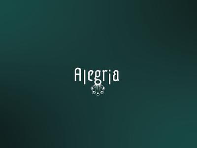 Branding - Alegria flower shop vector logo design branding