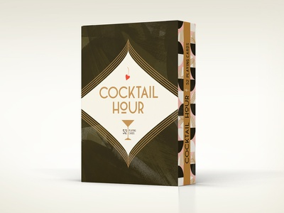 Tuck Box Process process cocktail foil art deco packaging playing cards illustration