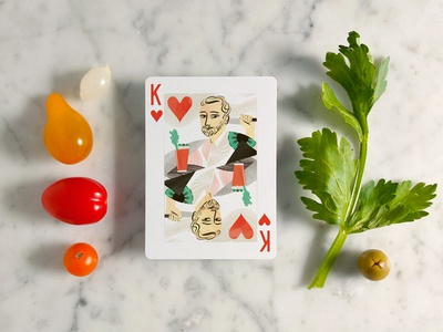 Brunch Time! playing cards illustration kickstarter cocktail food illustration pattern
