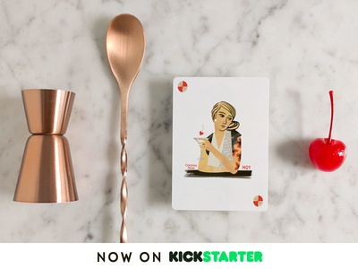 Cocktail Hour Playing Cards LIVE on Kickstarter wild card joker food illustration cocktail kickstarter illustration playing cards cocktail hour