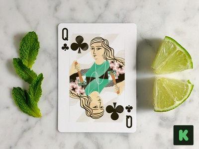 Cocktail Hour Playing Cards on Kickstarter clubs cocktail hour playing cards illustration kickstarter cocktail food illustration queen mojito