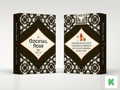 Cocktail Hour Playing Cards on Kickstarter - Tuck Box stretch goals history pattern packaging cocktail kickstarter illustration playing cards cocktail hour tuck box