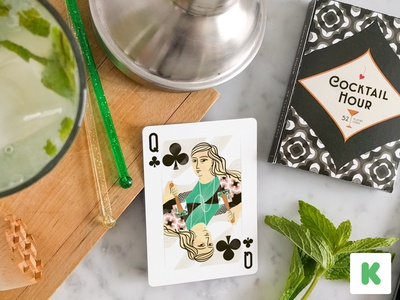 Ends tomorrow. mojito pattern cocktail kickstarter illustration playing cards cocktail hour games