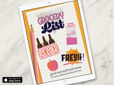 Good Eats & Treats iMessage Sticker Pack imessage beer taco grocery list animation lettering food illustration illustration