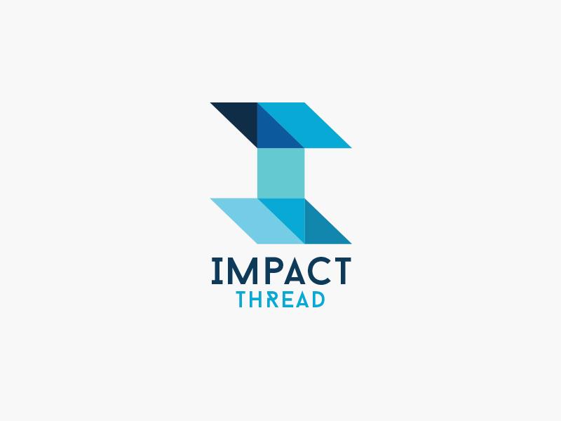 Impact Thread branding design logo