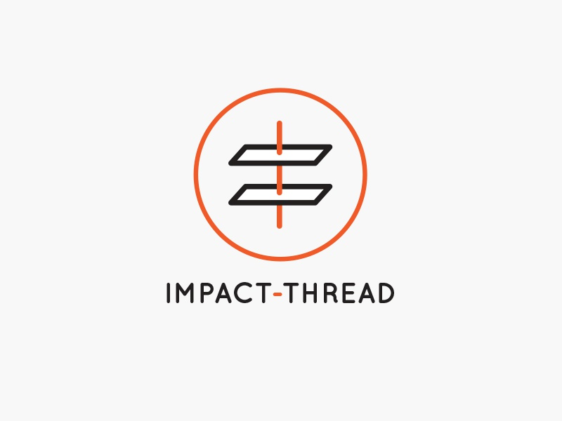 Impact Thread Alternate branding design logo