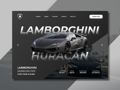 Lamborghini Web Concept app illustration typography ux logo web concept concept design branding huracan lamborghini landing landing page uiux web design web ui