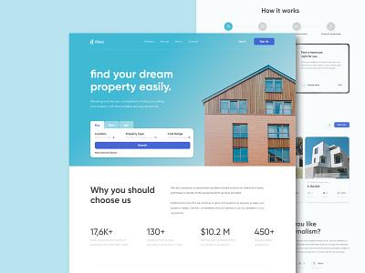 Alea Property Web Design illustration house property real estate app branding concept design landing page ux uxdesign web design uiux ui