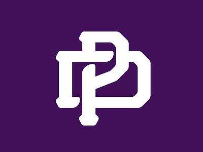 PD monogram prievidza vintage ice hockey sport logo monogram