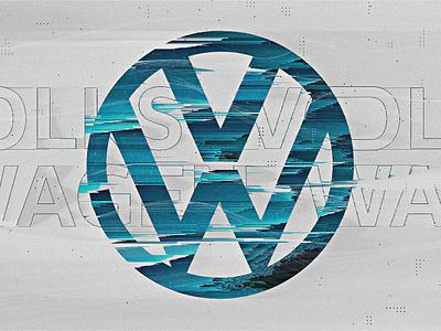Volkswagen   Look Development 01 distortion futuristic styleframes typography blue car pixelsort glitch clean minimal