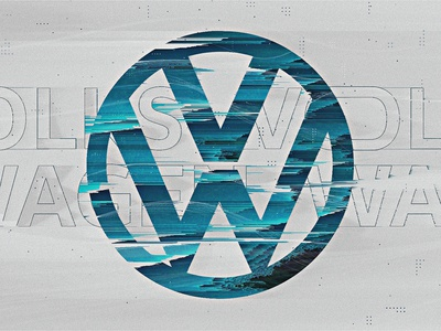 Volkswagen | Look Development 01 distortion futuristic styleframes typography blue car pixelsort glitch clean minimal