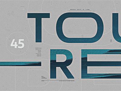 Volkswagen   Look Development 03 futuristic styleframes car clean pixelsort glitch minimal typography blue