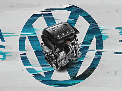 Volkswagen   Look Development 04 blue styleframes car pixelsort glitch distortion futuristic typography minimal clean