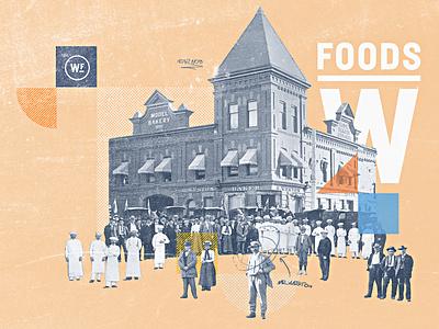 Weston Foods   Year 1908 - 01 half tone typography vintage retro texture grain bakery developement concept style frame