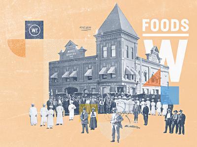 Weston Foods | Year 1908 - 01 half tone typography vintage retro texture grain bakery developement concept style frame