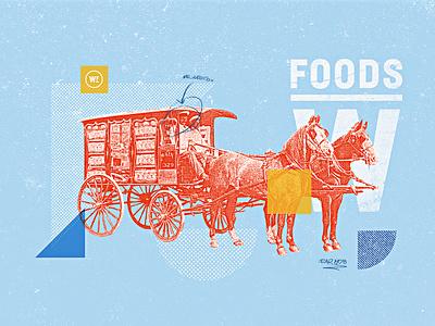 Weston Foods   Year 1908 - 02 half tone typography vintage retro texture grain bakery developement concept style frame