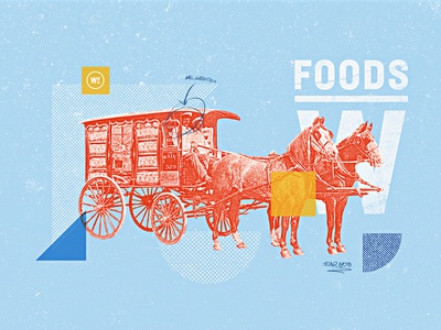 Weston Foods | Year 1908 - 02 half tone typography vintage retro texture grain bakery developement concept style frame