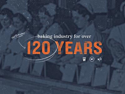 Weston Foods | Year 1908 - 03 half tone typogaphy vintage retro texture grain bakery development concept style frame