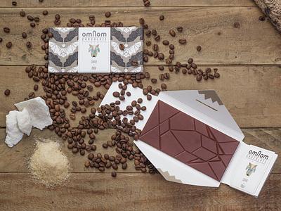 Omnom Chocolate branding logo illustration design