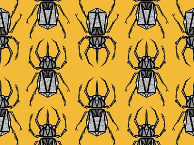 Atlas Beetle interior pattern design illustration design