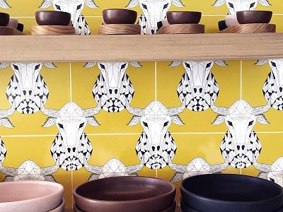 Tile design wolftown toro tiles pattern design illustration design interior