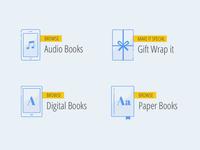 Online Bookstore Illustrations