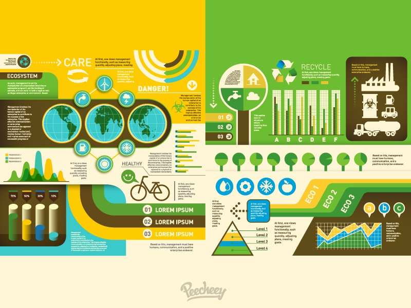 Ecology Infographics    ecology green vector free nature adobe infographic