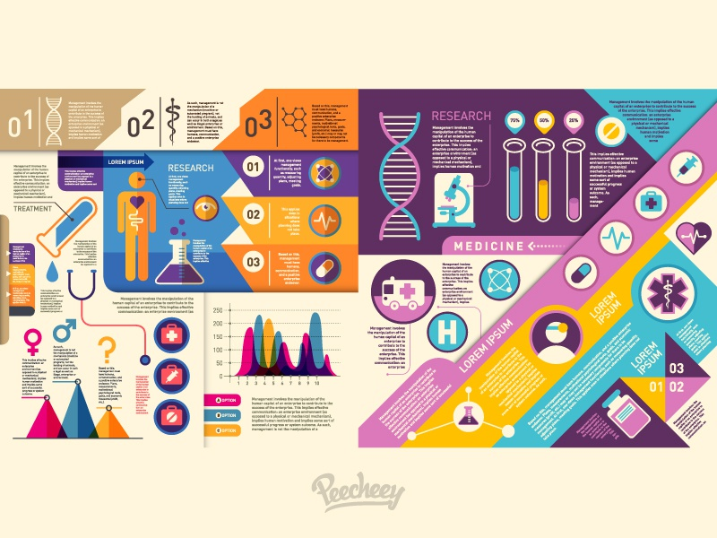 Medical Infographic set medical health infographic vector free adobe illustrator