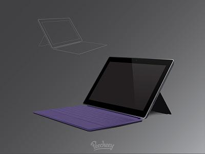 Surface Pro mockup tablet illustrator vector free vector mockup surface pro microsoft
